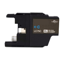 Brother Compatible LC75 C Cyan High Yield