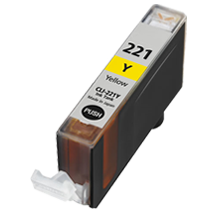 CANON Compatible CLI221Y  Yellow (With Chip)