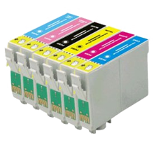 EPSON Compatible T078 INK / INKJET Cartridge Set Black Cyan Yellow Magenta Light Cyan Light Magenta
