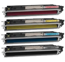 HP Compatible 126A Laser Toner Cartridge Set Black Cyan Magenta Yellow