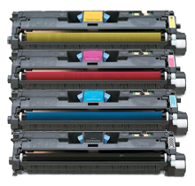 HP compatible 2550 Laser Toner Cartridge Set Black Cyan Yellow Magenta High Yield