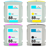 HP 88XL compatible INK / INKJET Cartridge Set Black Cyan Yellow Magenta High Yield