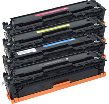 HP Compatible CP1215 Laser Toner Cartridge Set Black Cyan Yellow Magenta