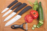 "High Quality Larcolais Ceramic Knife Set In Black 3"" 4"" 5"" 6"" inch + Peeler+Holder Free Shipping"