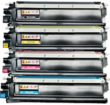 BROTHER COMPATIBLE TN210 Laser Toner Cartridge Set Black Cyan Yellow Magenta