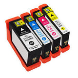 4pk Series 33 34 Extra HY Black & Color Printer Ink Cartridge for Dell V525w