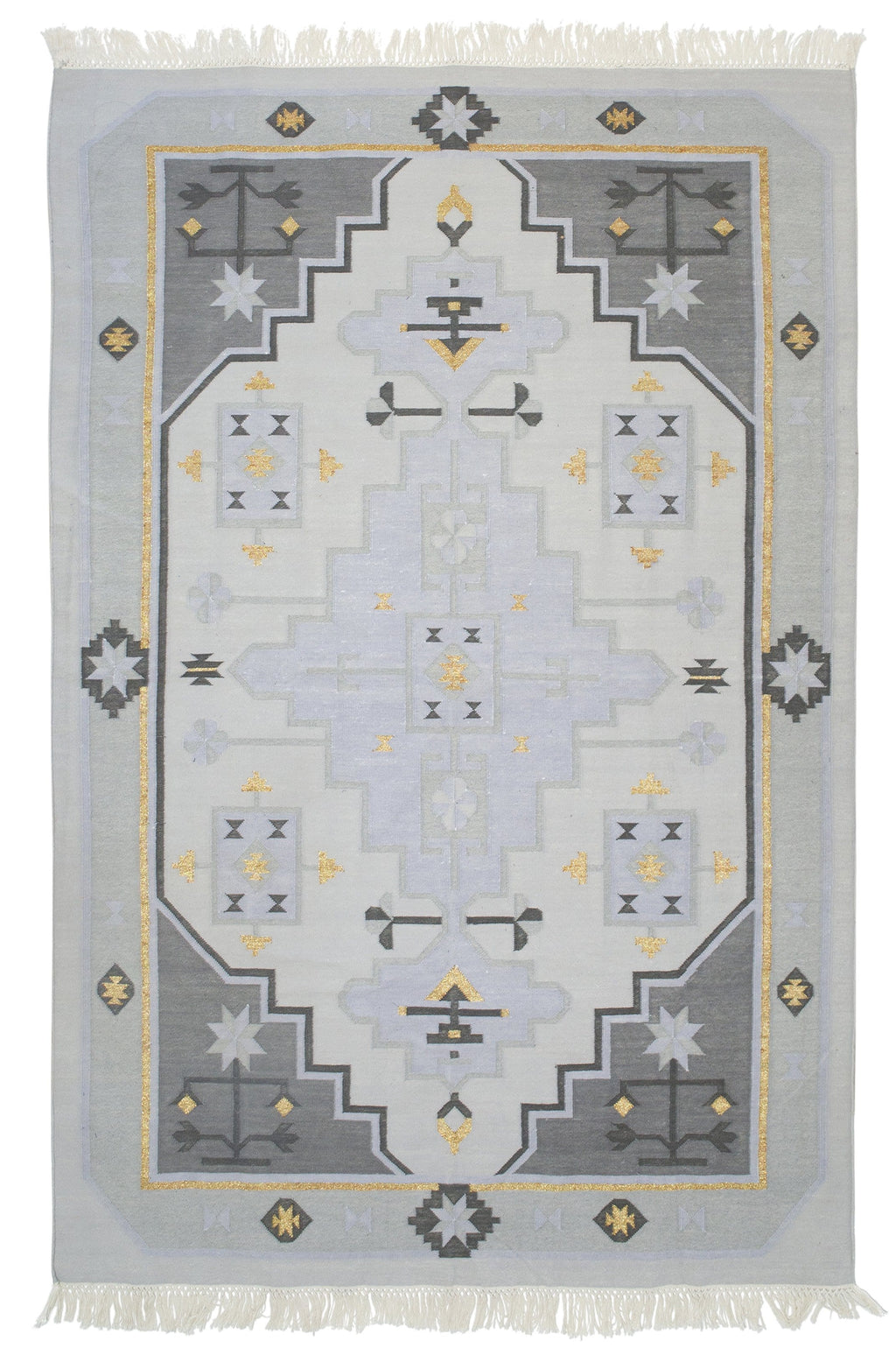 Amigos de Hoy Fields Lavender & Gold Cotton Rug