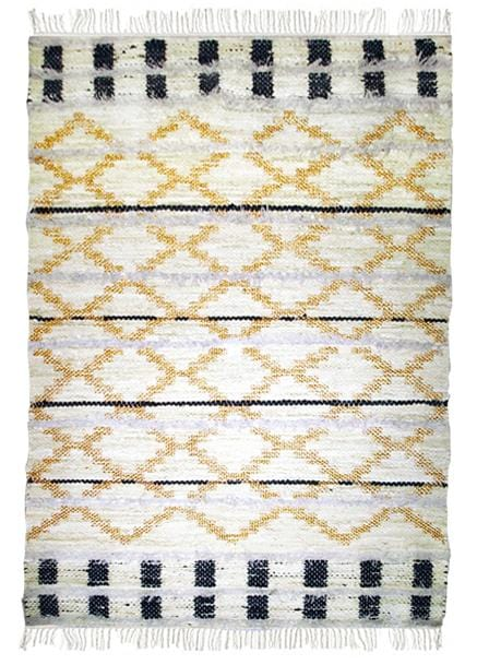 Amigos de Hoy Trails Cream & Gold Cotton Rug