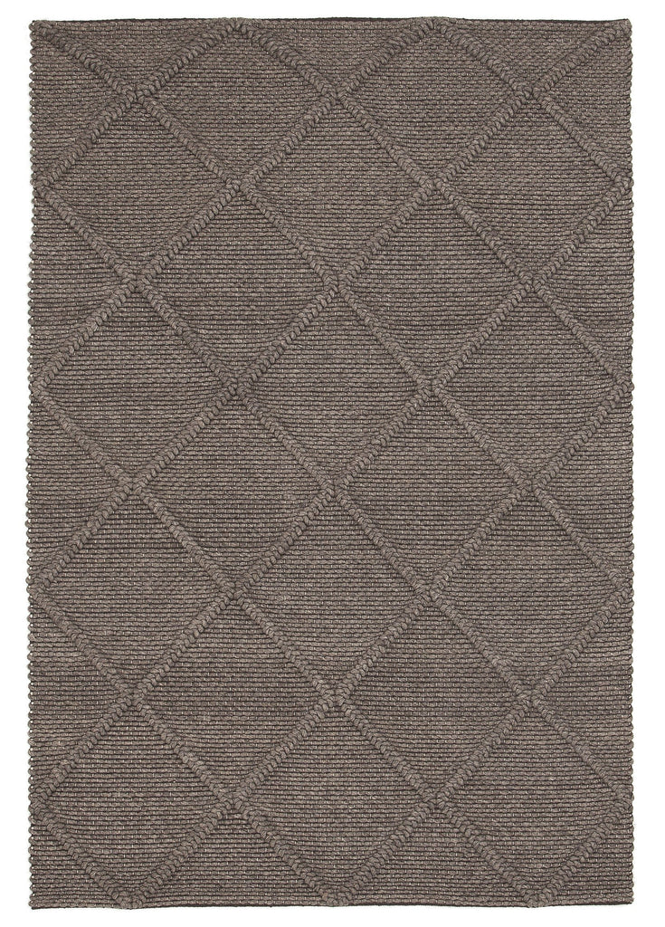 Aberdeen Warm Grey Braided Diamond Rug