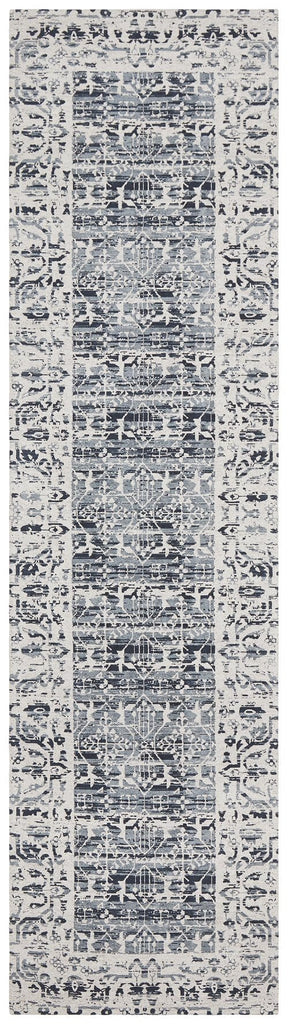 Ahlat Denim Blue Transitional Runner Rug
