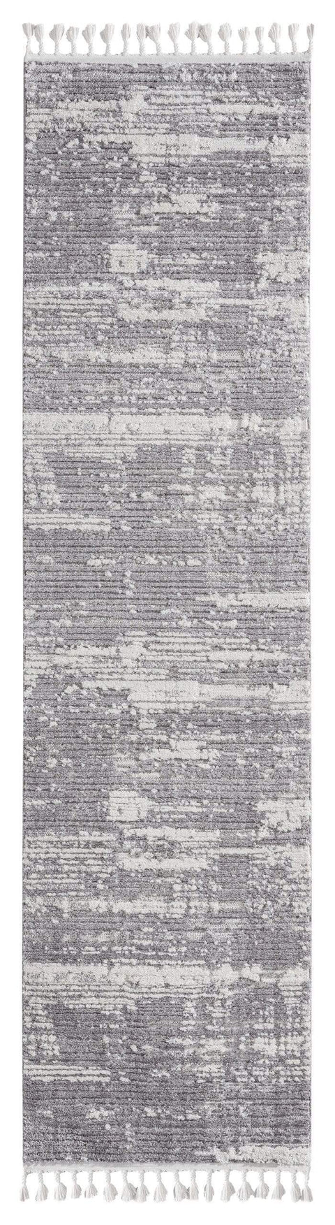 Alyssa Ivory Grey Textured Runner Rug