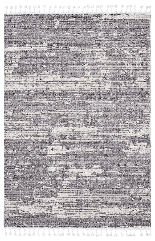 Alyssa Ivory Grey Textured Rug