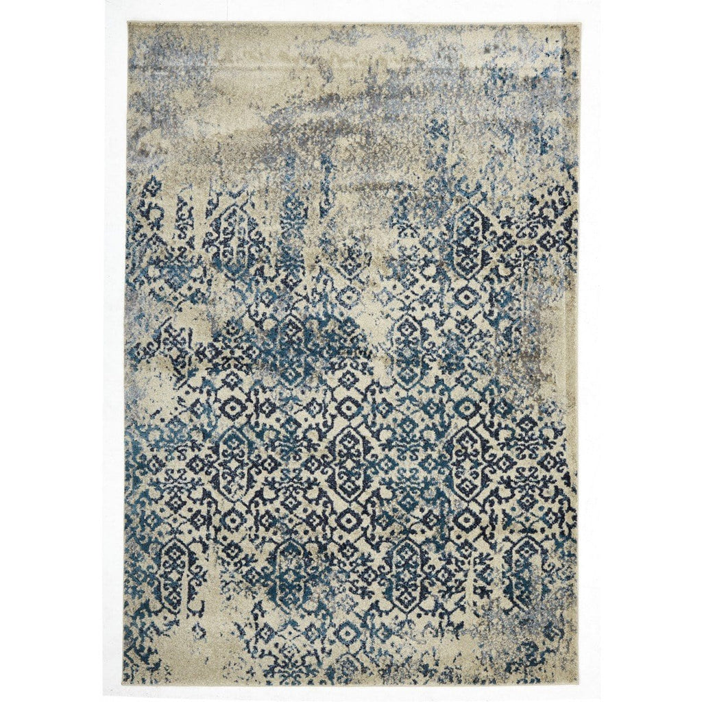 Amasya Blue, Teal & Aqua Motif Transitional Rug