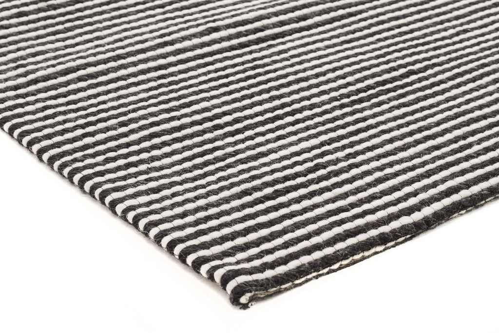 Amiens Black Amp White Wool Amp Viscose Rug