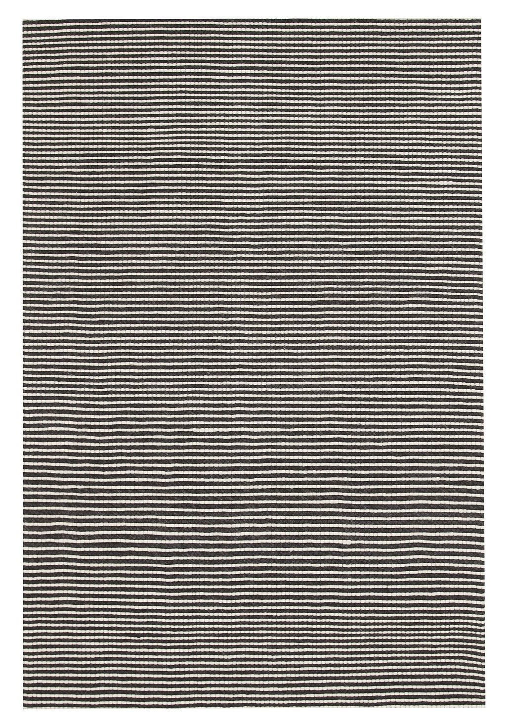 Amiens Black & White Wool & Viscose Rug