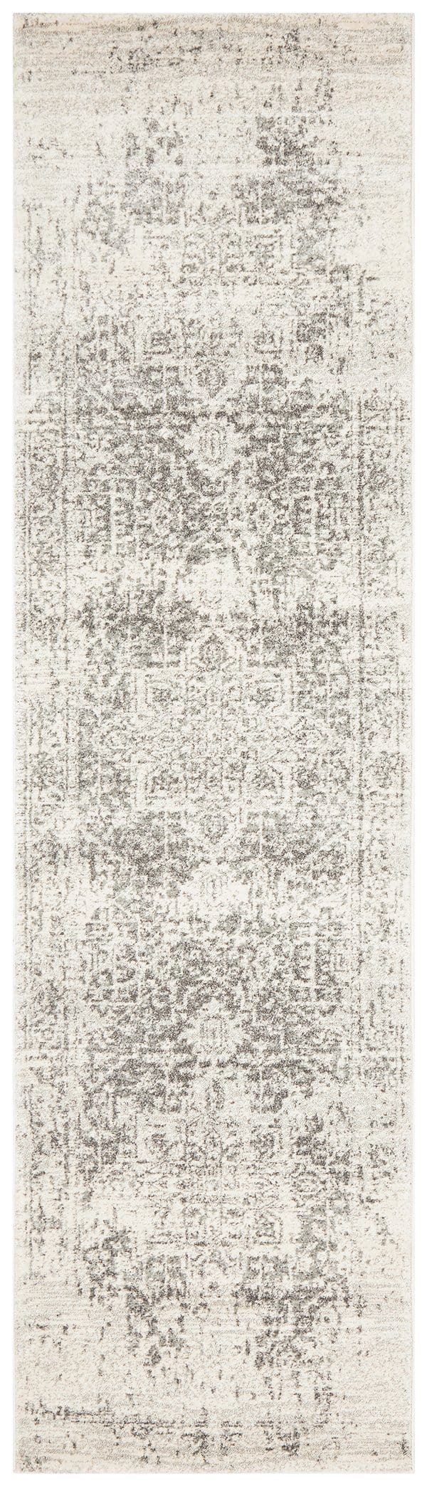 Arsuk Ivory & Grey Distressed Runner Rug