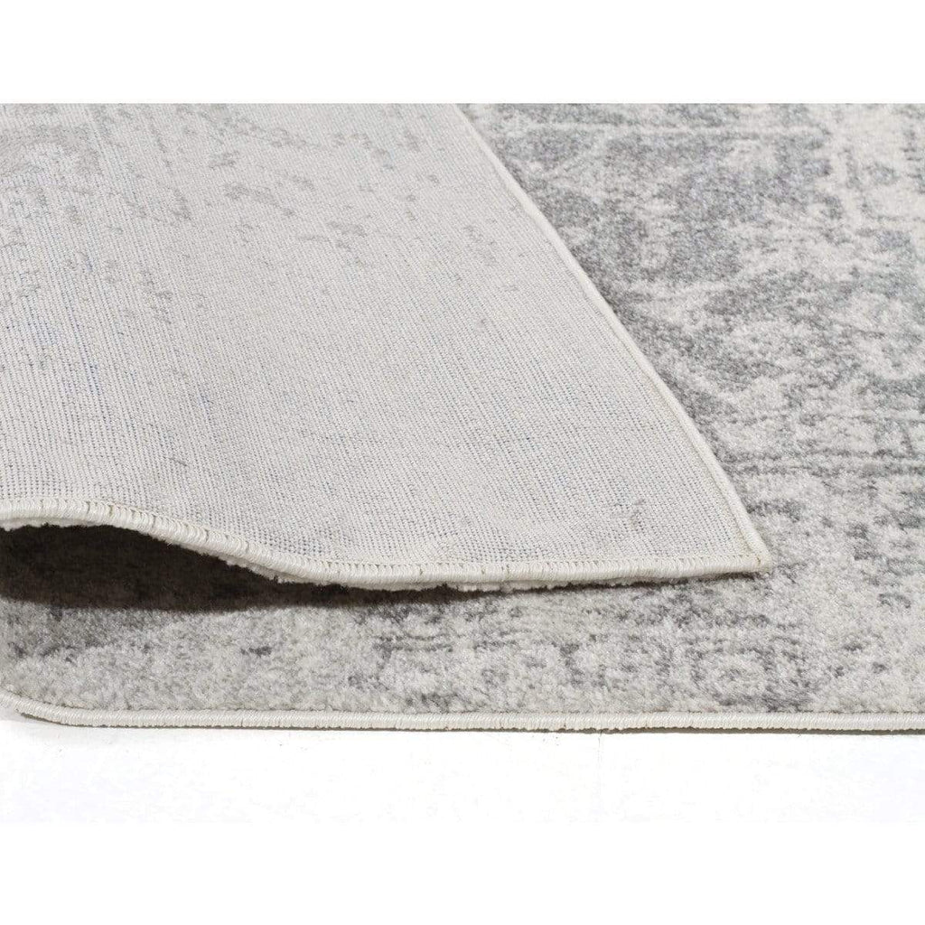 Arsuk Ivory Amp Grey Distressed Transitional Rug