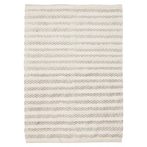 Banepa Ivory & Grey Tribal Rug