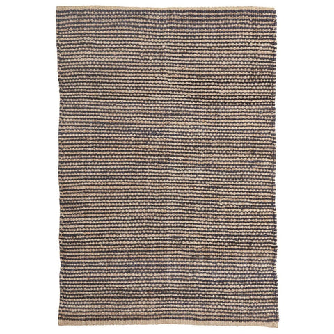 Batukaru Dark Blue Grey & Natural Jute Rug