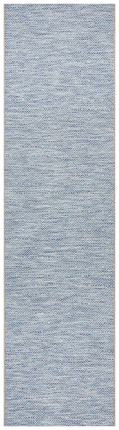 Belize Blue Diamond Runner Rug