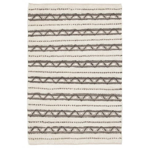 Bidur Ivory & Grey Brown Tribal Rug