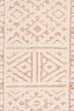 Bobbie Peach and Ivory Textured Tribal Runner Rug