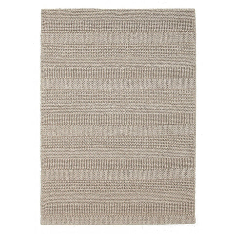 Braemar Beige Grey Braided Wool Rug