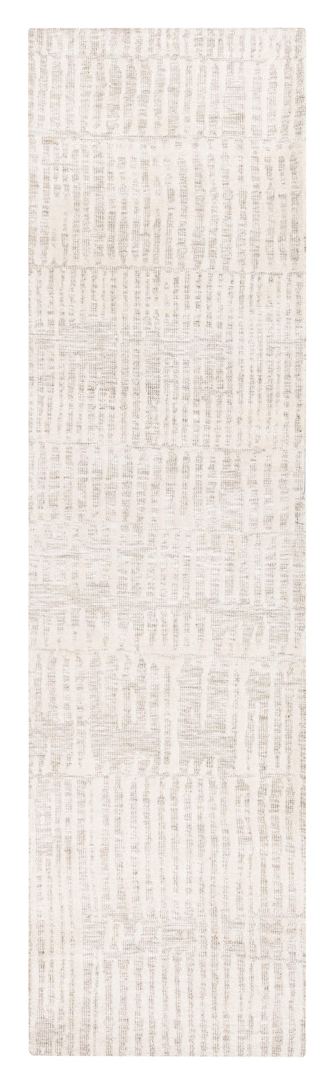 Brianna Ivory and Beige Tribal Transitional Runner Rug