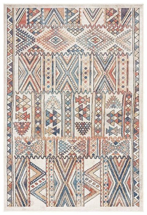 Cassie Orange and Blue Multi Colour Tribal Rug