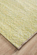 Cayo Green Diamond Runner Rug