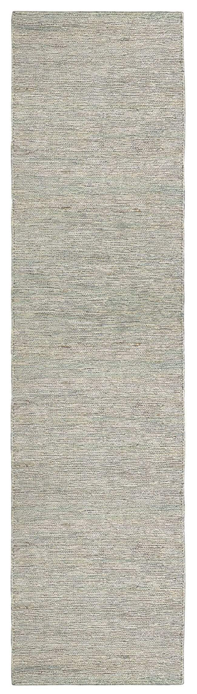 Clover Brown and Green Braided Jute Runner Rug