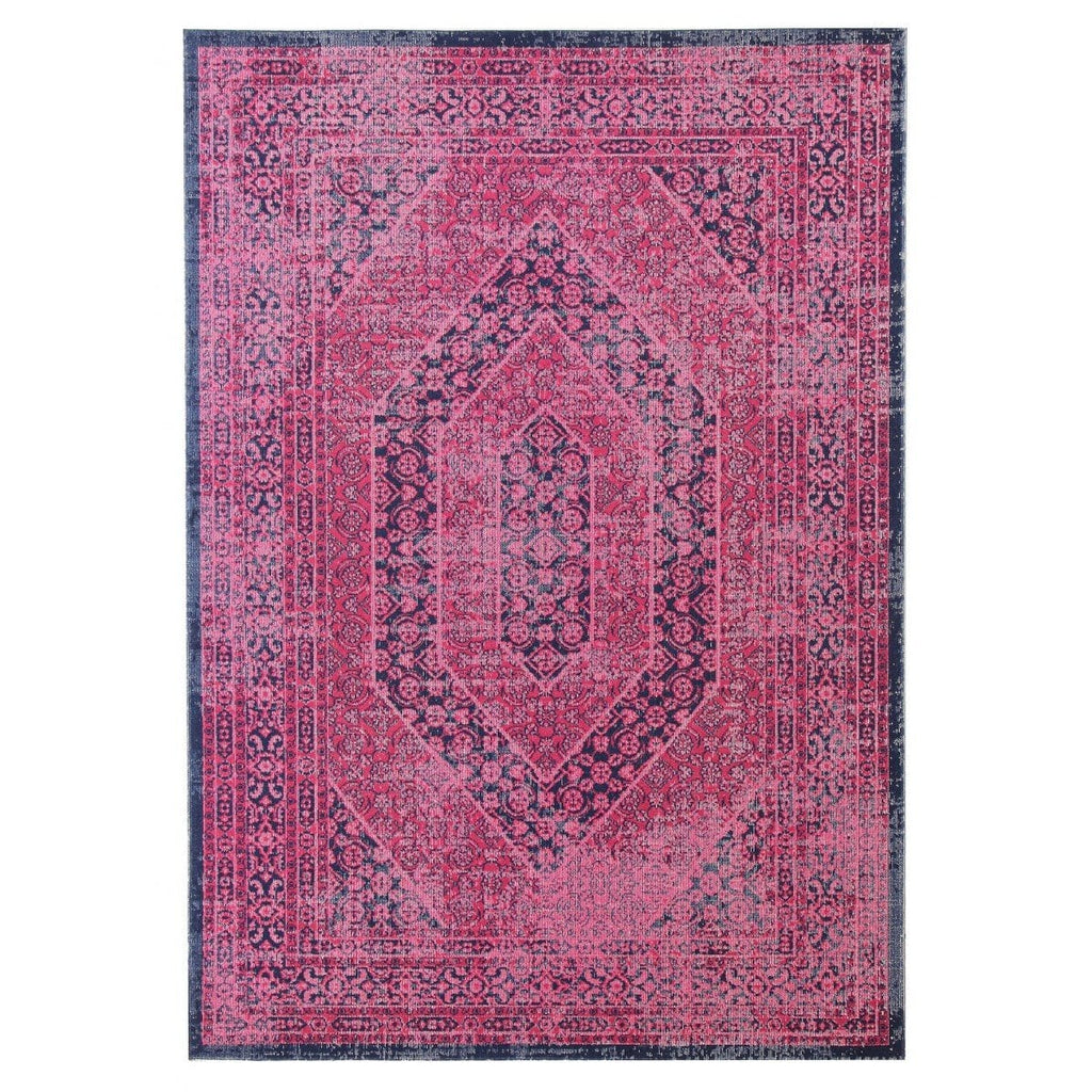 Dahuk Pink Distressed Vintage Look Rug