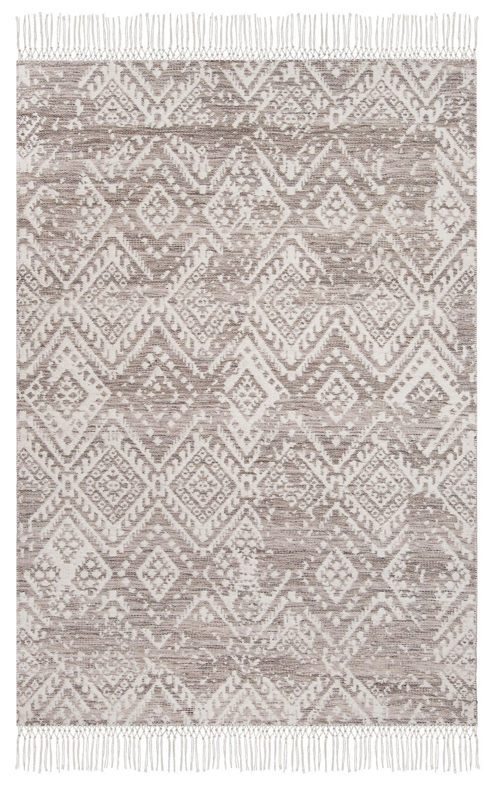 Estrella Brown and Ivory Transitional Tribal Rug
