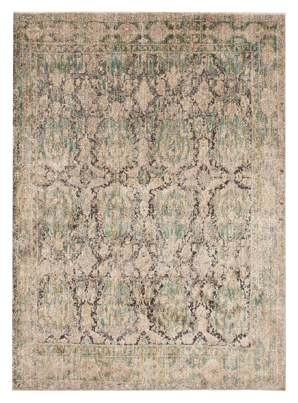 Farasan Green & Purple Faded Transitional Rug