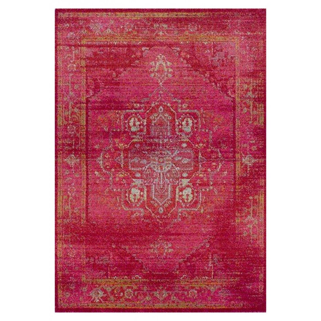 Fayyum Red Egyptian Overdyed Rug