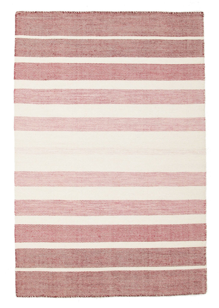 Formentera Blush Pink Striped Cotton Amp Wool Rug