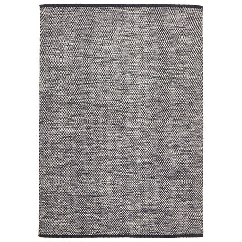 Hella Black & White Cotton Flatweave Rug