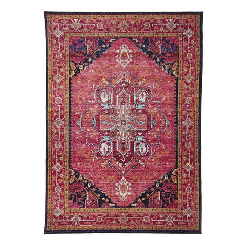 Idfu Pink Egyptian Faded Rug