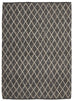Iquitos Charcoal & Beige Lattice Wool & Viscose Rug