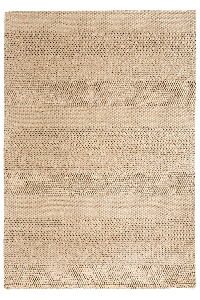 Joline Caramel Beige Braided and Looped Rug