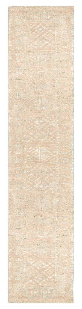 Kaia Hushed Green Grey and Beige Tribal Transitional Runner Rug