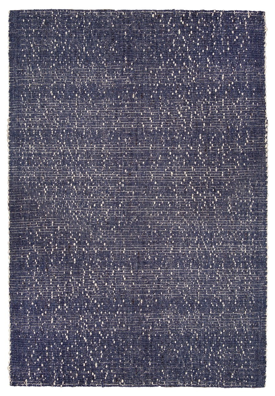 Kendra Navy Blue and Ivory Wool Rug