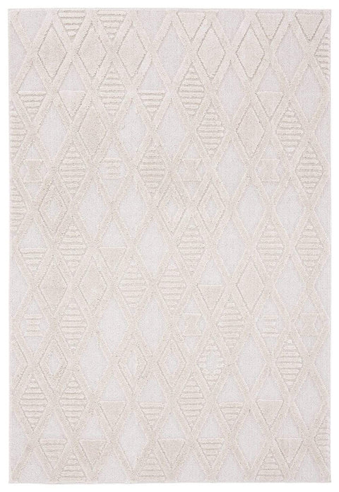 Kira Diamond Detail Textured Rug