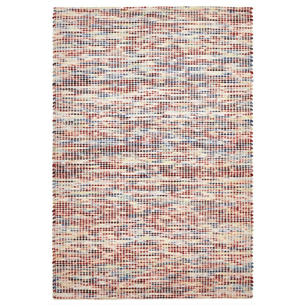Lahti Rainbow Felted Wool Hand-Knotted Rug