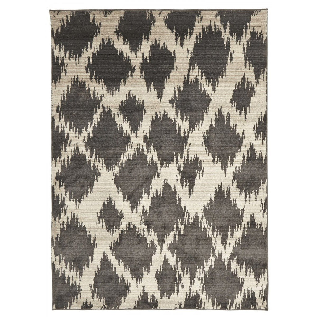 Larache Grey Diamond Tribal Moroccan Rug
