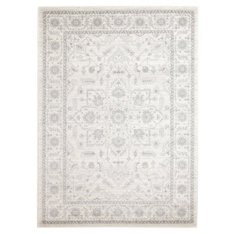Madaya Ivory & Grey Floral Transitional Rug