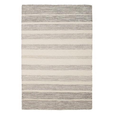 Majorca Grey Striped Cotton & Wool Rug