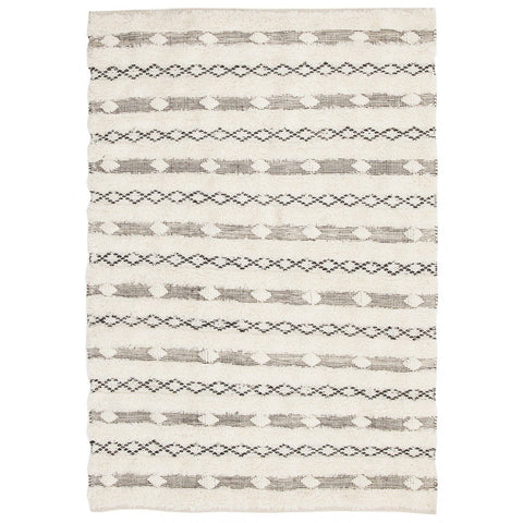 Mandi Ivory & Grey Brown Tribal Rug