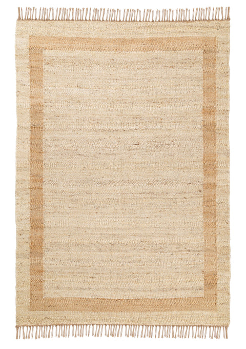 Marnie Natural and Bleached Bordered Jute Rug