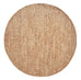 Massika Diamond Pattern Braided Round Jute Rug